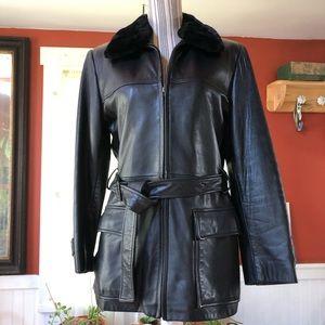 Leather Kenneth Cole Jacket